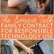 The Smart Talk is a free online tool from the National PTA and LifeLock that helps kids and parents prepare a contact for safe online behavior and responsible technology use. #TheSmartTalk #ad #CG