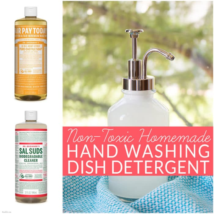 Non-Toxic Homemade Dish Detergent for Hand Washing - Bren Did