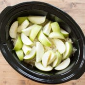 "This easy recipe combines apples, pork roast and sauerkraut in the crock pot for a tasty dinner that takes just minutes to prepare. My family loves it for the tasty combination of flavors, I love it because it is a simple ""throw and go"" recipe for the slow cooker."