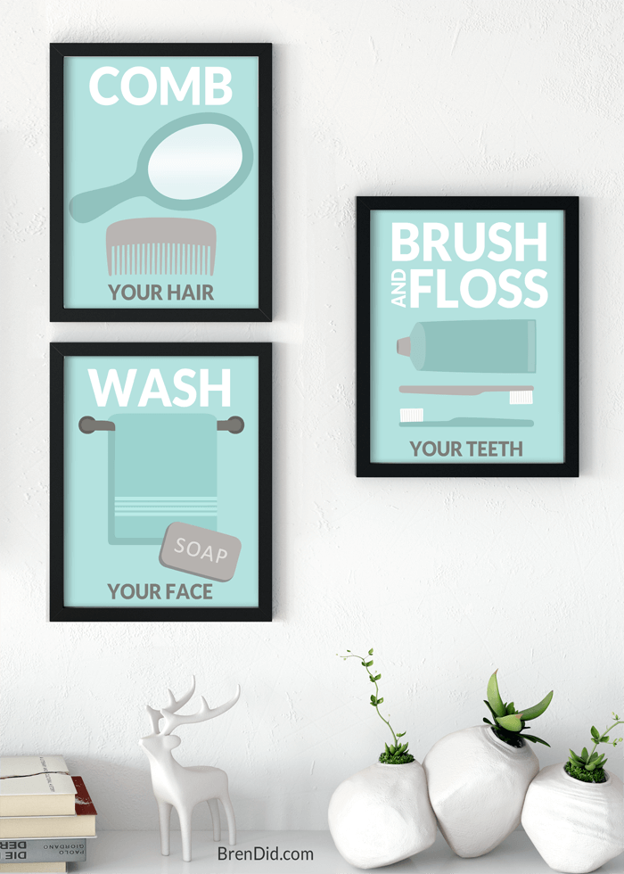 Concerned about toxic ingredients and dangerous chemicals in your home? Learn easy ways to choose healthier personal care products, limit your exposure to dangerous ingredients, & update your bathroom with free printables. #ad