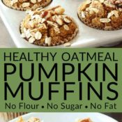 healthy pumpkin muffins collag