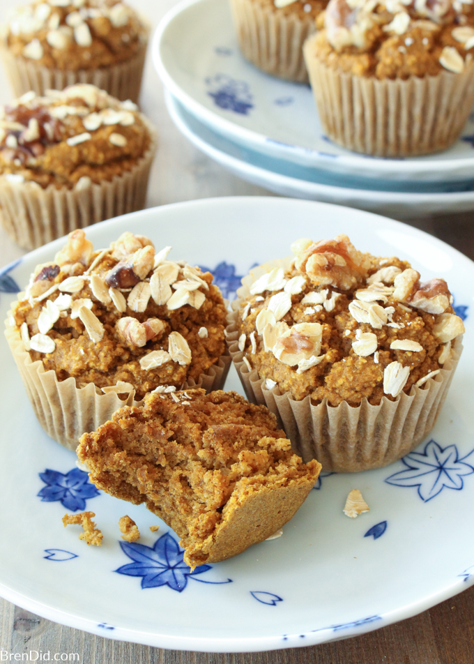 Healthy Pumpkin Muffins Recipe No Flour Sugar Free Oil Free Dairy Free