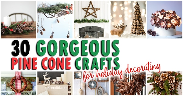 decorating with pine cones 30 gorgeous crafts bren did - How To Decorate Pine Cones For Christmas Ornaments