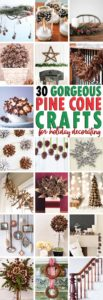 Decorating with pine cones for the holidays is free and beautiful. These 30 easy crafts add pinecones to your home decor this winter.