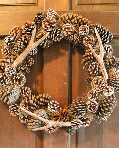 Decorating with pine cones for the holidays is free and beautiful. These 30 easy crafts add pine cones to your home decor this winter.