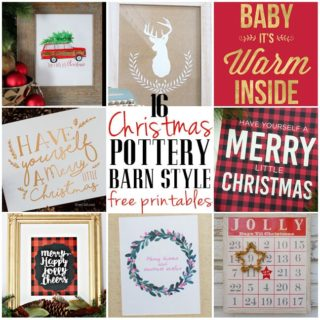 16 Free Pottery Barn Style Knock Off Christmas Printables