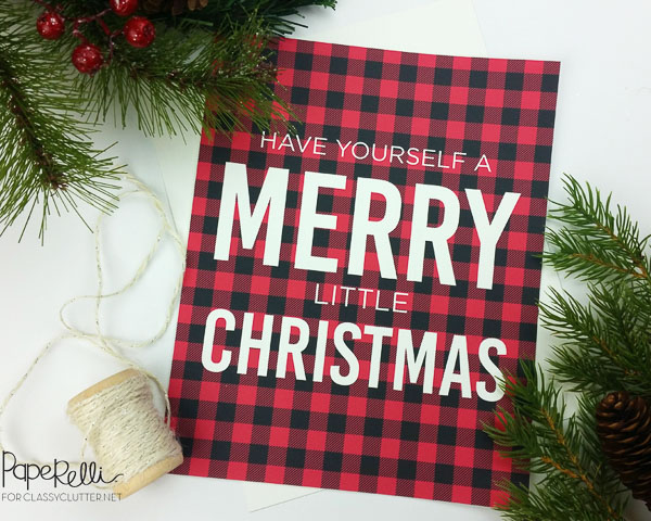 Merry Christmas Buffalo Plaid Printable