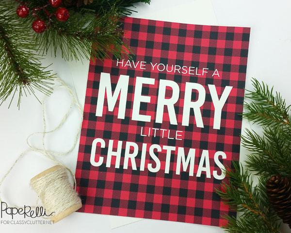 Merry Christmas Buffalo Plaid Printable
