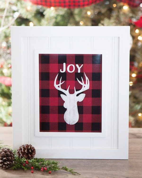 Joy reindeer printable