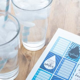 5 Tips to Make Drinking Water a Habit (& Free Water Tracking Stickers)