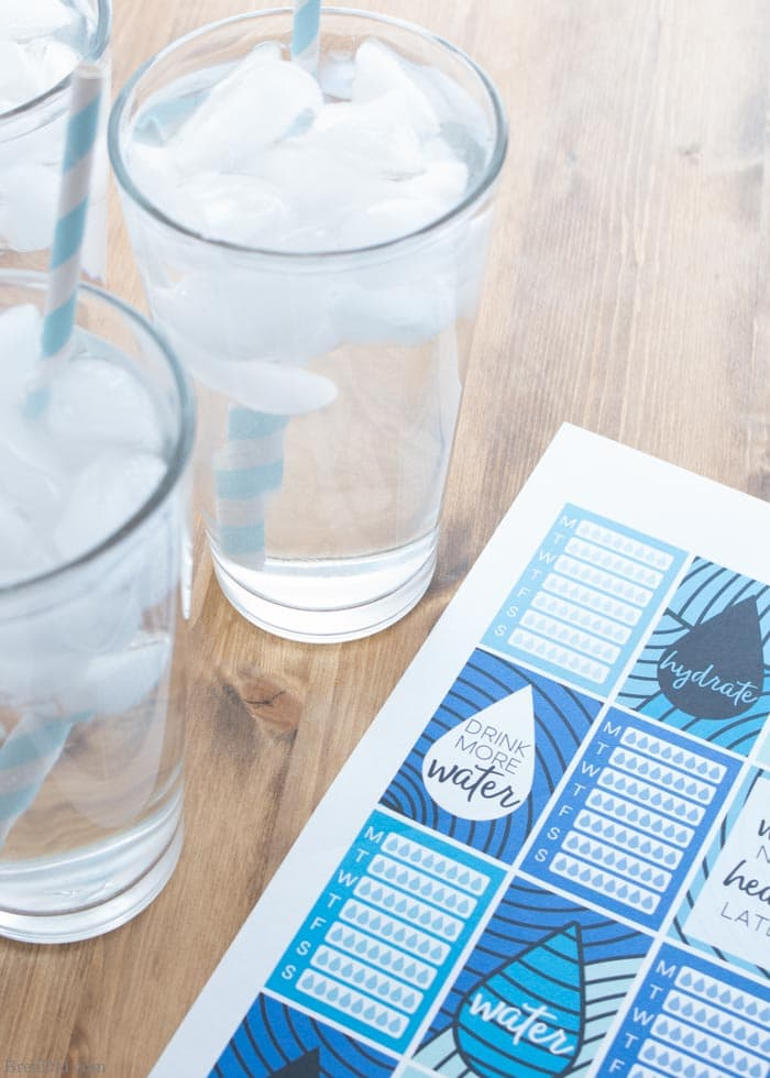 5 Easy Tips That Make Drinking Water a Habit (Plus Free Water Tracking Stickers)