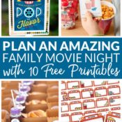 Family Movie Night Ideas Pin from Bren Did