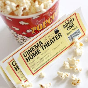 Family movie night ticket