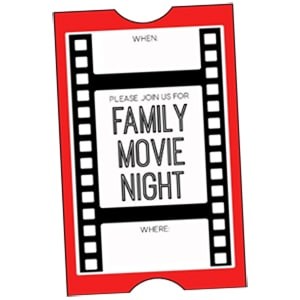 Family movie night ticket from Bren Did