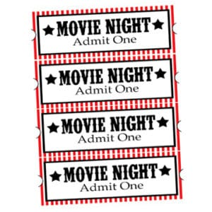 Family movie night ticket 2