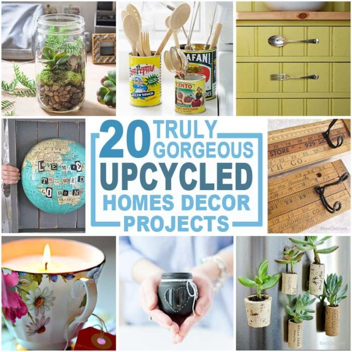 20 Recycling Ideas For Home Decor: 20 Upcycled Home Décor Items To Make And Love