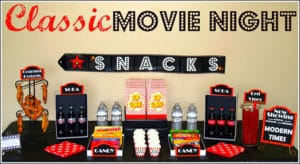 Family movie night concessions
