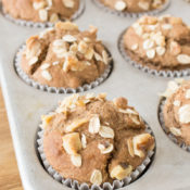 Healthy Banana Oatmeal Muffins in Tin