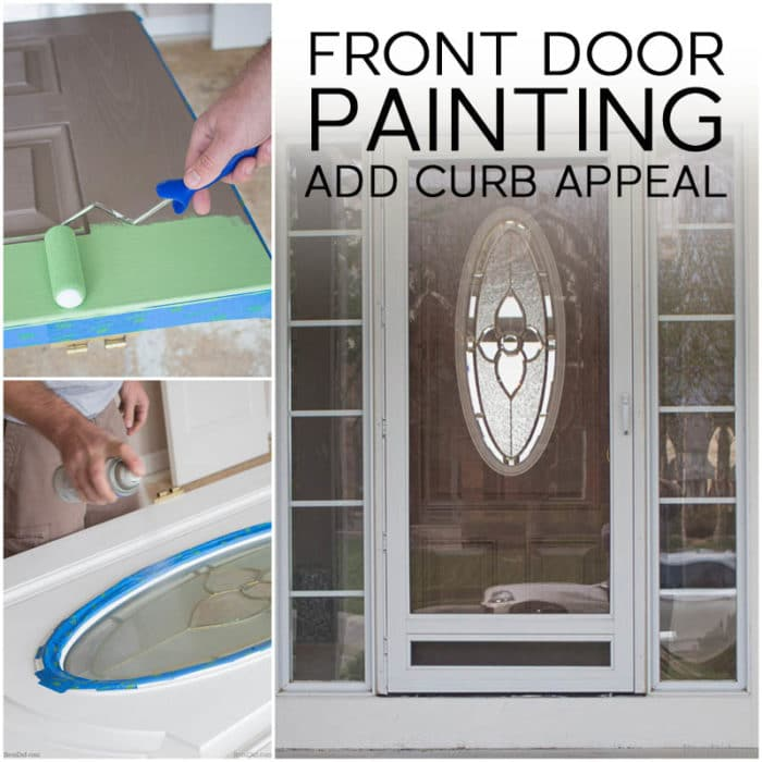 front door painting for instant curb appeal