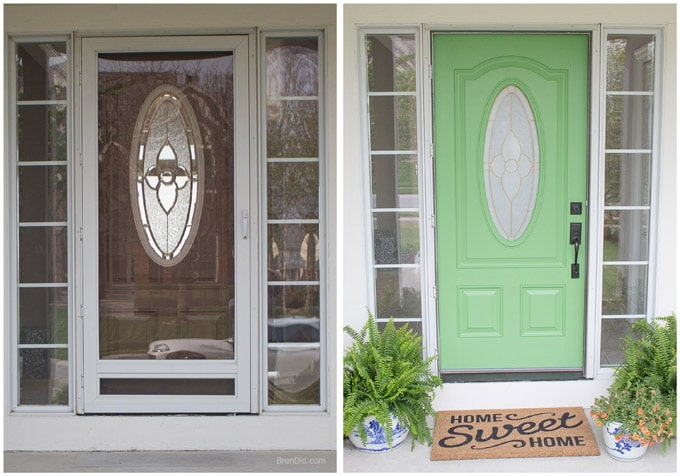 front door painting for instant curb appeal before and after bren did