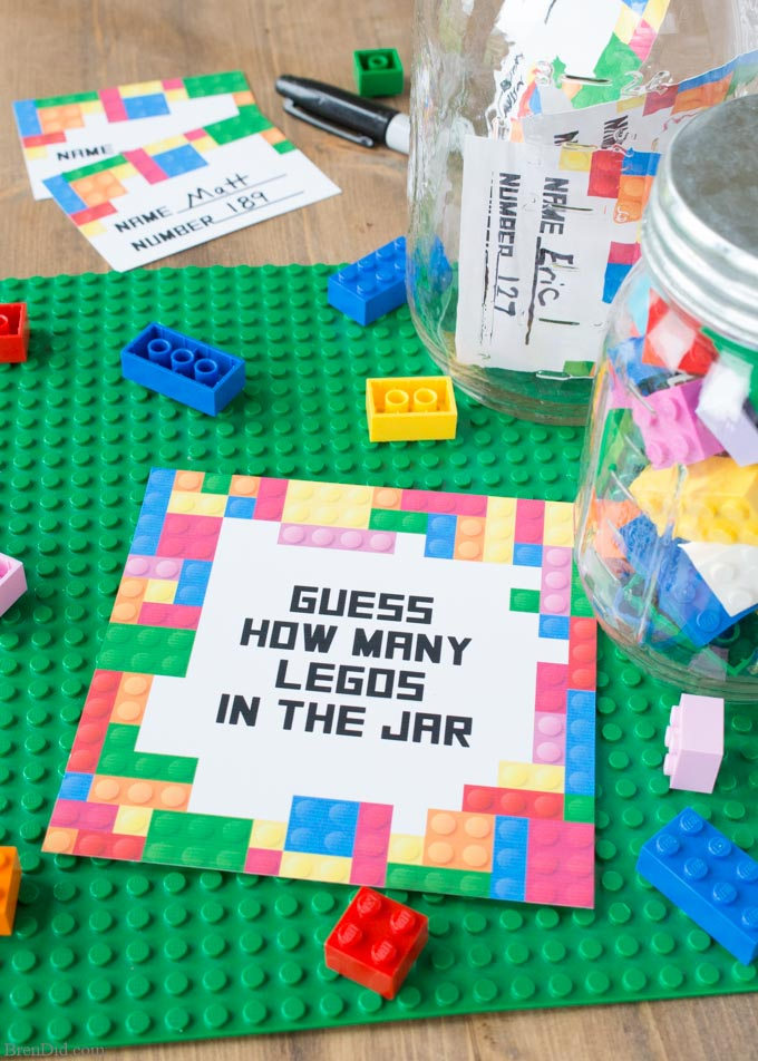 Legos in jar