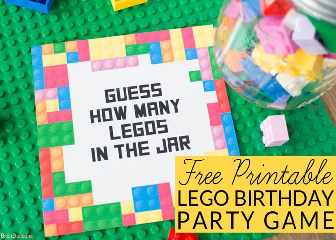 photograph relating to Guess Who Game Printable called No cost Printable Lego Celebration Match: Bet the Quantity of Legos