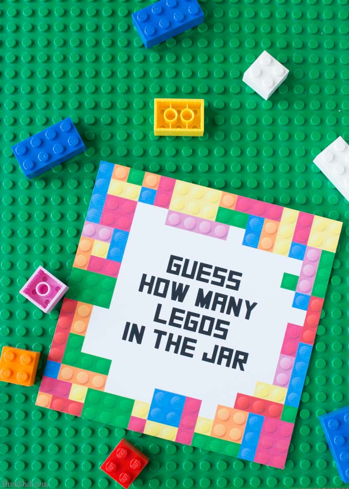 free printable lego party game guess the number of legos bren did