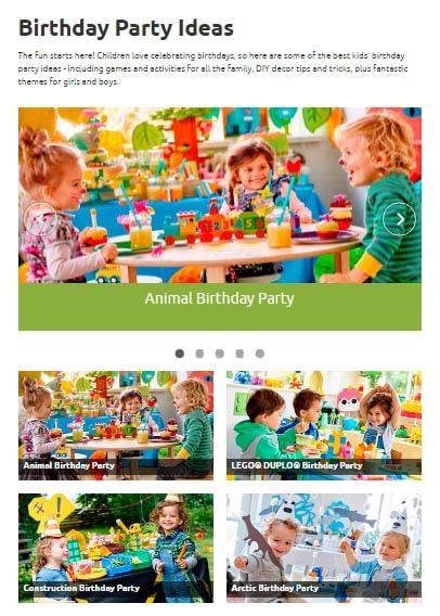 Lego.com party ideas