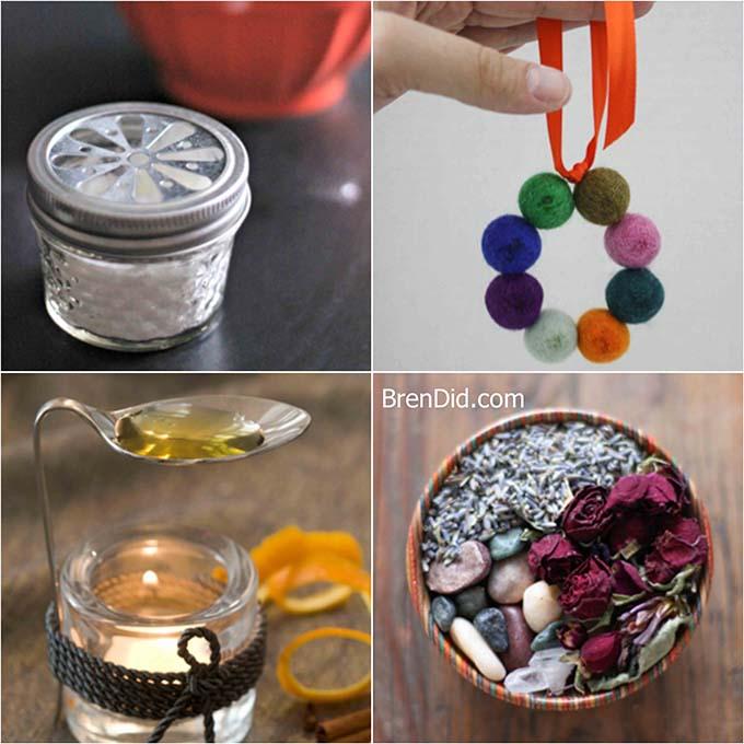 Baking soda diffuser jar wool felt ball diffuser candle warmer diffuser floral potpourri