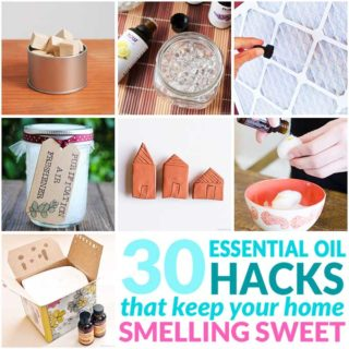 essential oil hacks collage