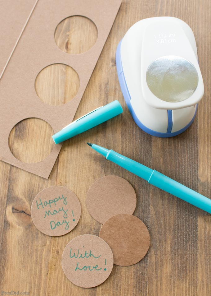 cardboard gift tags with market
