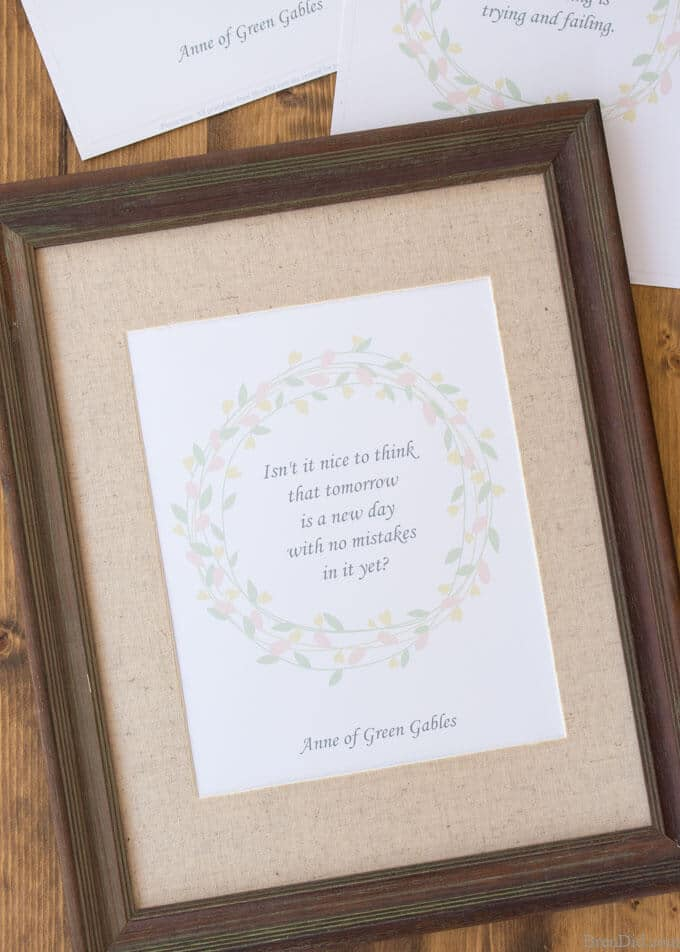 10 Free Printable Anne Of Green Gables Quotes Bren Did
