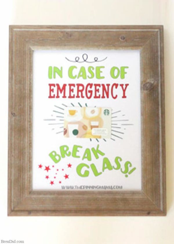 Break Glass gift card holder