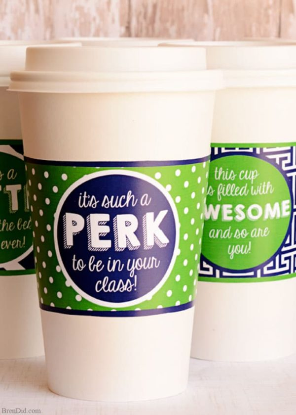 It's a Perk Coffee Cup Wrappers