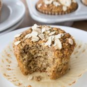 Healthy Oatmeal Muffins out of wrapper