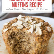 Gluten Free Healthy Oatmeal Muffin with Title