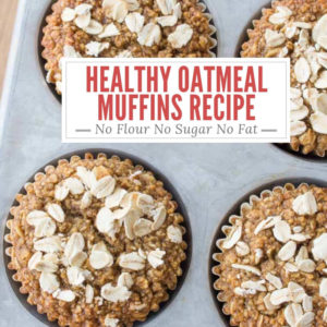 Healthy Oatmeal Muffin with Title