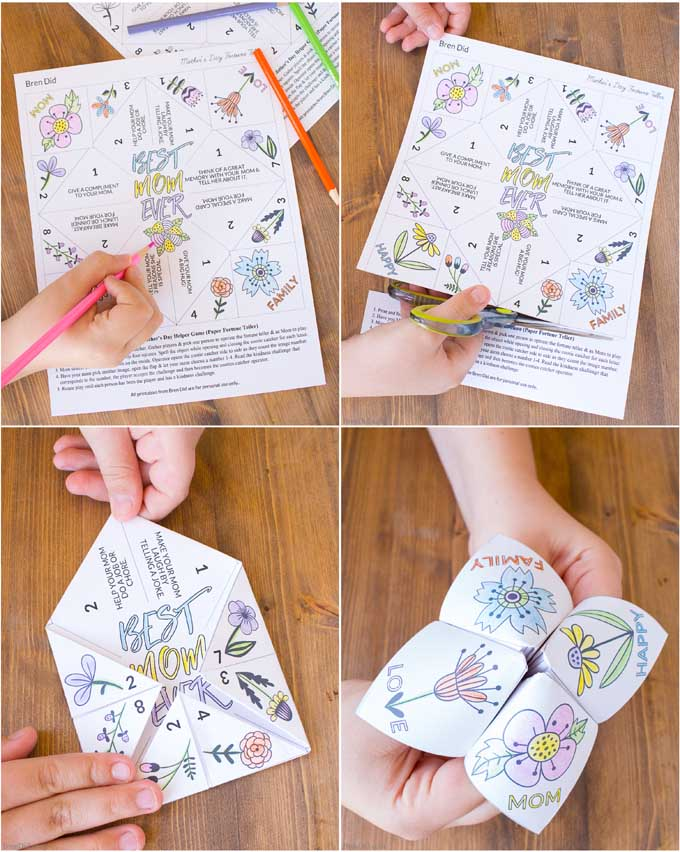 Easy Mothers Day Craft For Kids Fortune Teller Bren Did