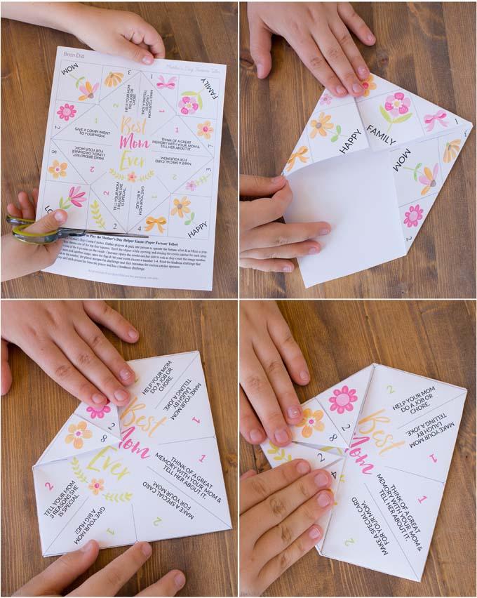 full color Mother's Day Fortune Teller steps 2
