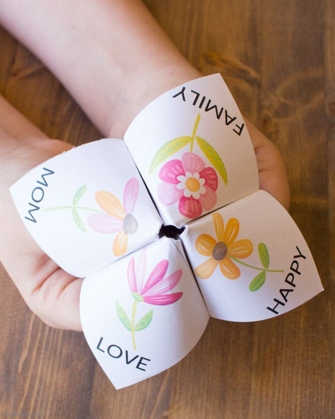 Easy mother s day craft for kids fortune teller bren did