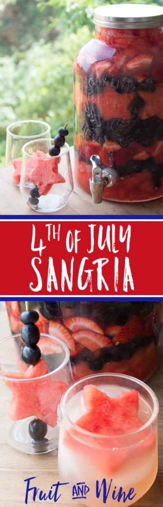 Fourth of July Sangria pin