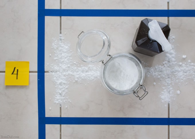 Baking soda hydrogen peroxide grout cleaner