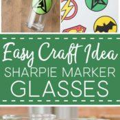 How to Make Custom DIY Sharpie Glasses, Sharpie glass diy, sharpie glassware, how to draw on glass with sharpie, sharpie art, sharpie crafts pin