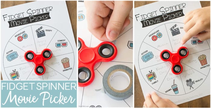 Fidget Spinner Movie Picker free printable collage