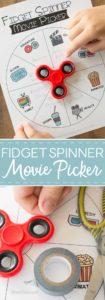 Fidget Spinner Movie Picker free printable Pin