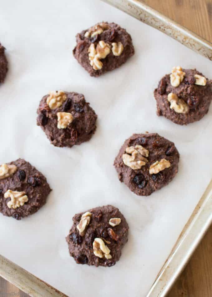 Healthy Chocolate Cookies Baked