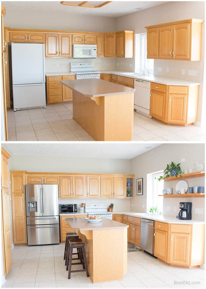 Medium image of mini kitchen makeover before after