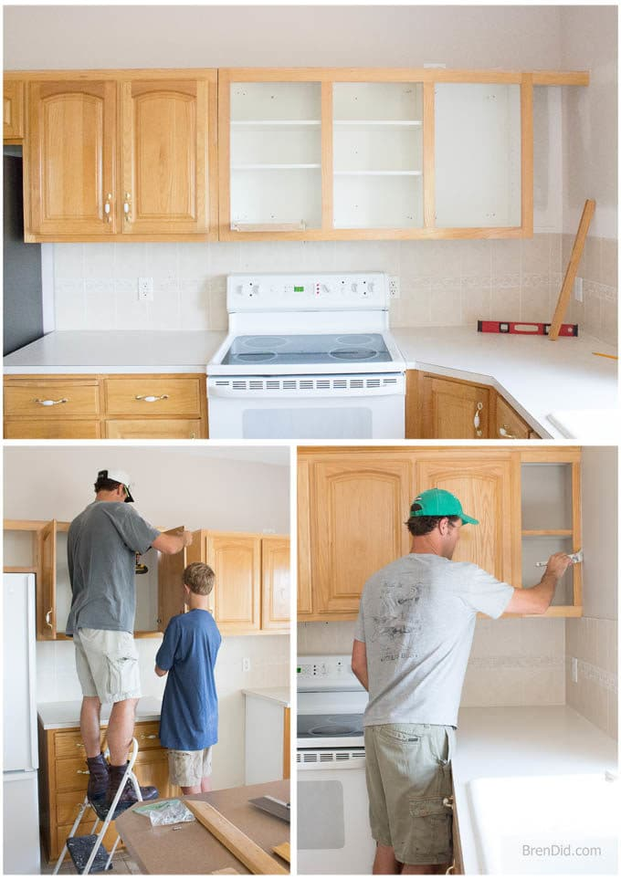 Mini Kitchen Makeover Reinstall Cabinets