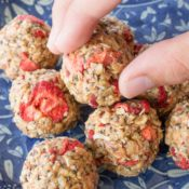 Strawberry Crispy Energy Balls For Kids