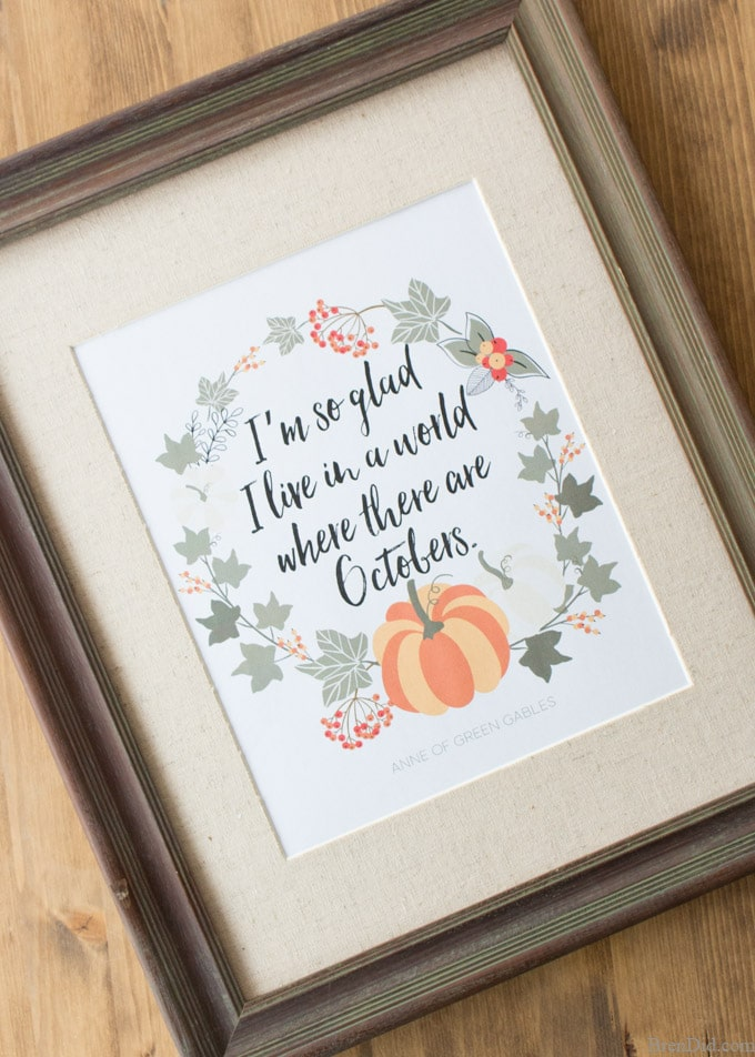 fall quotes I'm so glad I live in a world where there are Octobers Bren Did